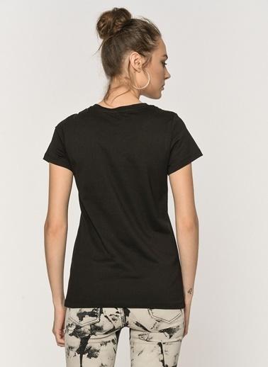 Loves You Likra Supreme Basic T-Shirt Siyah